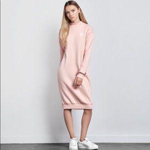 •Adidas Originals• NWT Pastel Pink Crew Dress